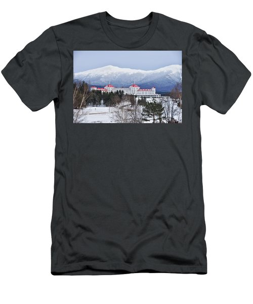 Winter At The Mt Washington Hotel Men's T-Shirt (Slim Fit) by Tricia Marchlik