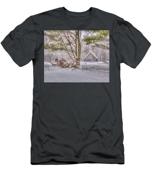Winter At The Woods Men's T-Shirt (Athletic Fit)