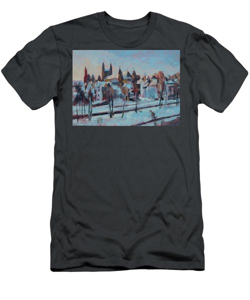 Winter Basilica Our Lady Maastricht Men's T-Shirt (Athletic Fit)