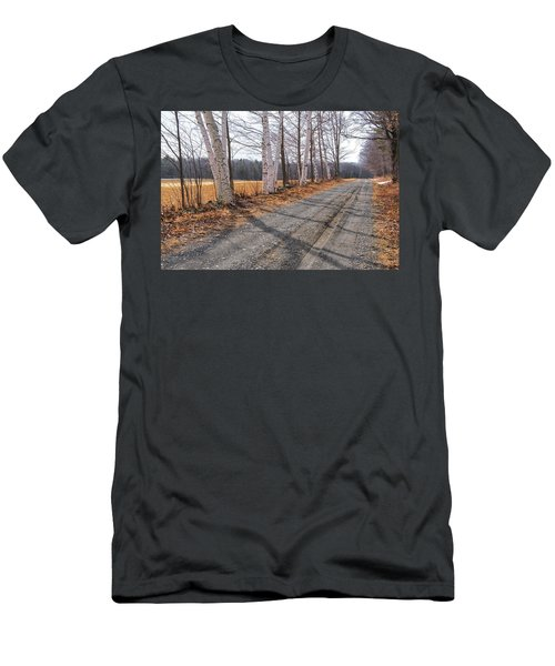 Men's T-Shirt (Athletic Fit) featuring the photograph Winter Birches by Tom Singleton