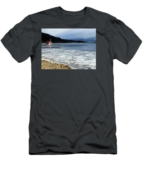 Men's T-Shirt (Slim Fit) featuring the photograph Cottage Life In Winter by Victor K