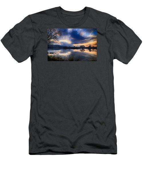 Winter Colors At Sunset Men's T-Shirt (Slim Fit) by Lynn Hopwood