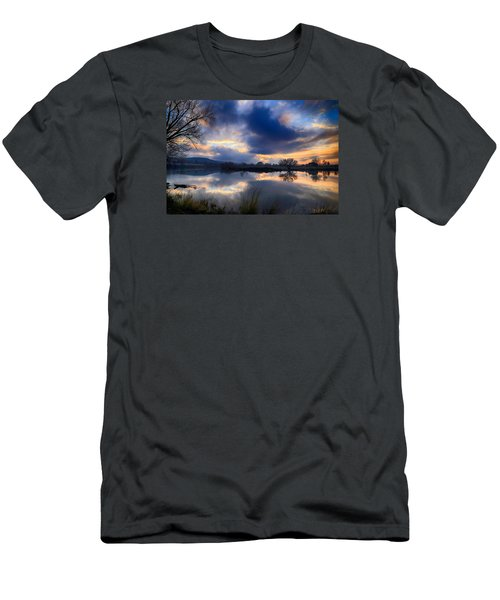 Winter Colors At Sunset Men's T-Shirt (Athletic Fit)