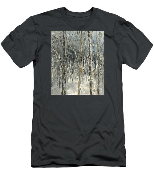 Men's T-Shirt (Slim Fit) featuring the painting Winter Country by Tatiana Iliina