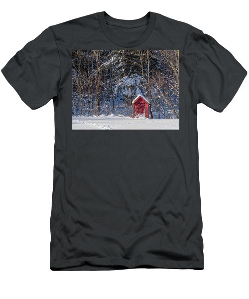 Winter, Down East Maine  Men's T-Shirt (Athletic Fit)
