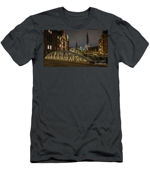 Winter Evening In Hamburg  Men's T-Shirt (Athletic Fit)