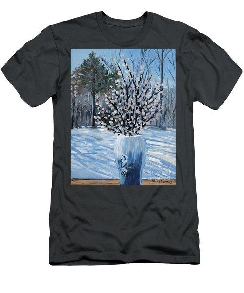 Winter Floral Men's T-Shirt (Athletic Fit)
