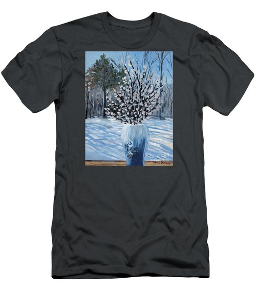 Winter Floral Men's T-Shirt (Athletic Fit)