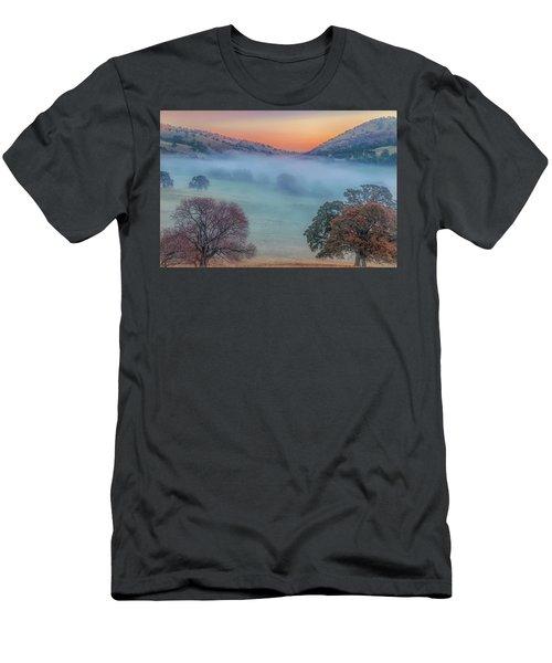 Winter Fog At Sunrise Men's T-Shirt (Athletic Fit)