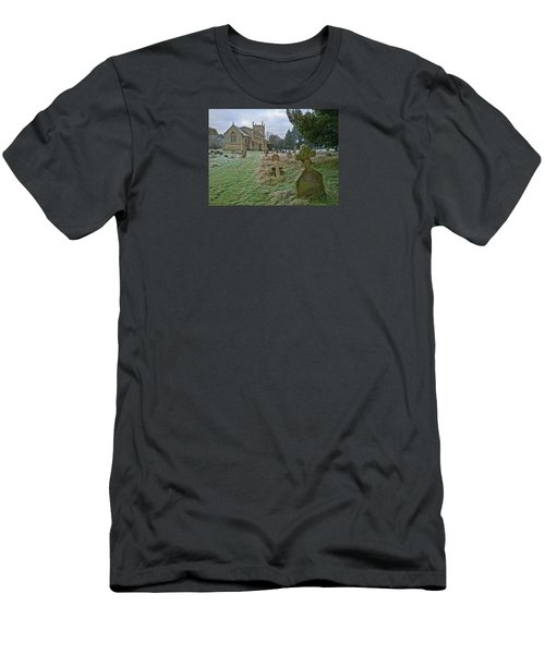 Winter Graveyard Men's T-Shirt (Slim Fit) by Anne Kotan