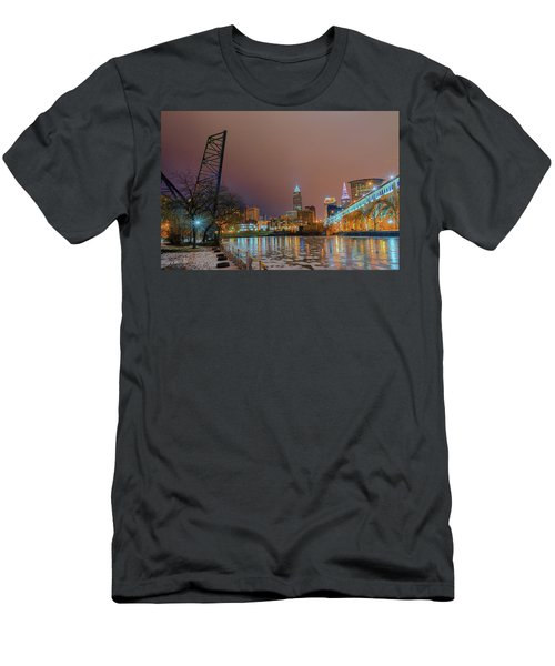 Winter In Cleveland, Ohio  Men's T-Shirt (Athletic Fit)