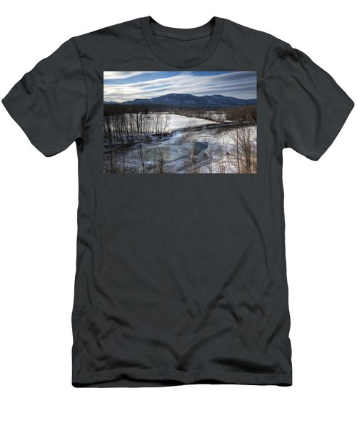 Winter In North Conway Men's T-Shirt (Athletic Fit)