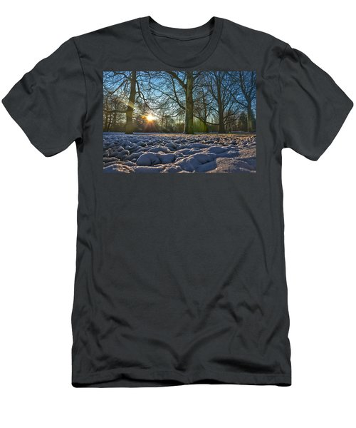 Winter In The Park Men's T-Shirt (Athletic Fit)