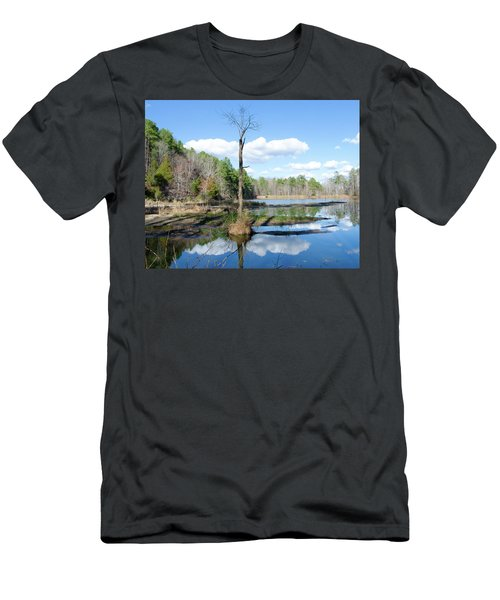 Men's T-Shirt (Slim Fit) featuring the photograph Winter Lake View by George Randy Bass