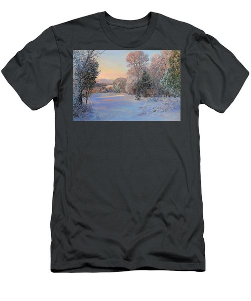 Winter Landscape In The Morning Men's T-Shirt (Athletic Fit)