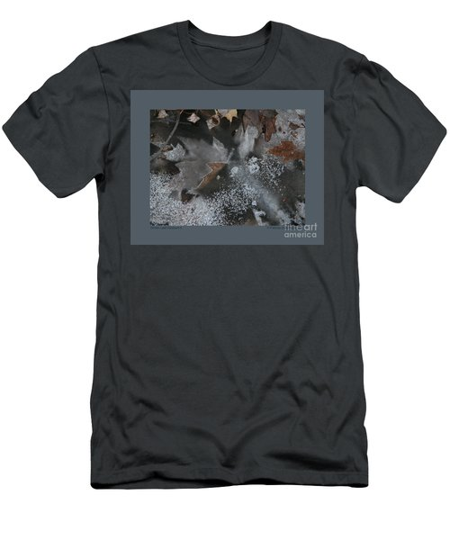 Winter Leaf Abstract-ii Men's T-Shirt (Slim Fit) by Patricia Overmoyer