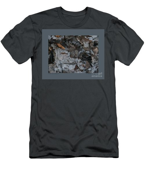 Winter Leaf Abstract-iii Men's T-Shirt (Slim Fit) by Patricia Overmoyer