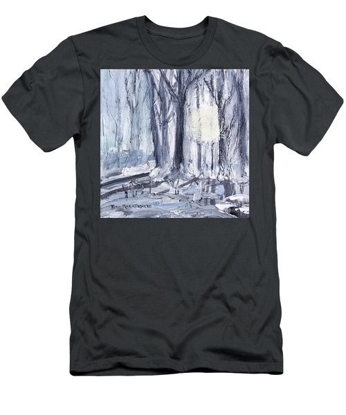 Men's T-Shirt (Athletic Fit) featuring the painting Winter Light by Robin Maria Pedrero