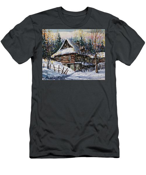 Winter Magic II  Men's T-Shirt (Athletic Fit)