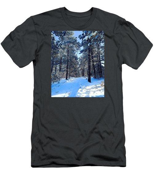 Winter Morning Men's T-Shirt (Slim Fit) by Walter Chamberlain