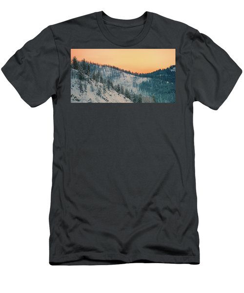 Winter Mountainscape  Men's T-Shirt (Athletic Fit)