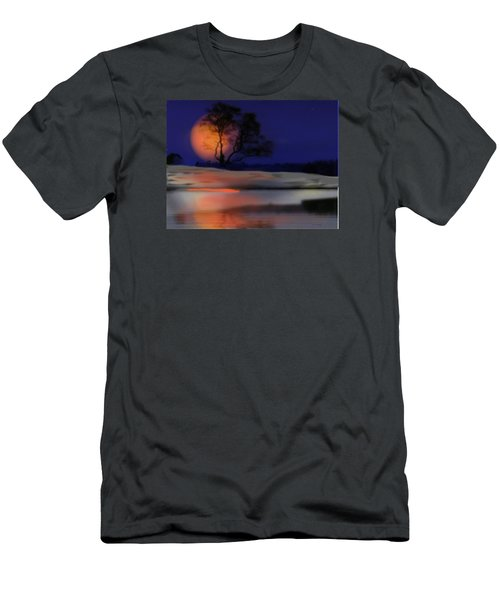 Men's T-Shirt (Slim Fit) featuring the digital art Winter Night by Dr Loifer Vladimir
