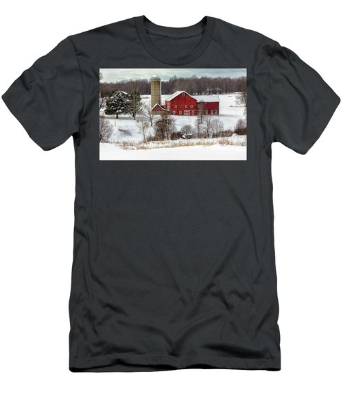 Winter On A Farm Men's T-Shirt (Athletic Fit)