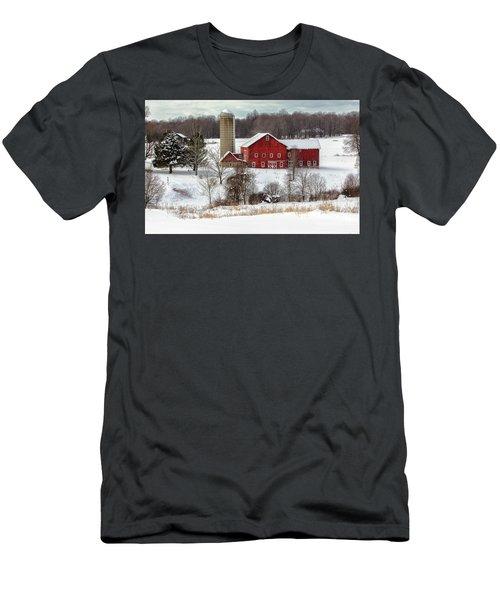 Winter On A Farm Men's T-Shirt (Athletic Fit)