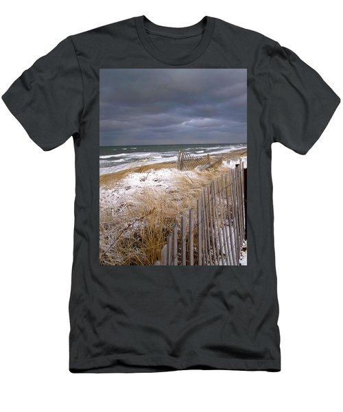 Winter On Cape Cod Sandy Neck Beach Men's T-Shirt (Athletic Fit)