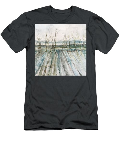 Winter On The Delta Men's T-Shirt (Slim Fit) by Robin Miller-Bookhout