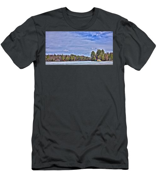 Men's T-Shirt (Slim Fit) featuring the photograph Winter On The Pond by David Patterson