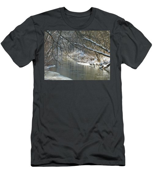 Winter On The Stream Men's T-Shirt (Athletic Fit)