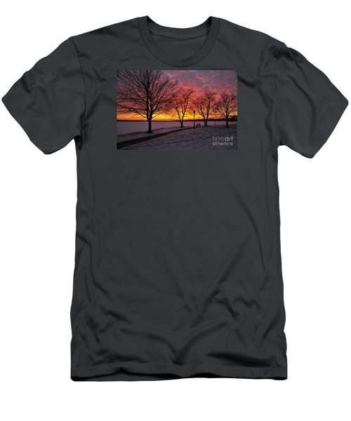 Men's T-Shirt (Slim Fit) featuring the photograph Winter Park by Terri Gostola