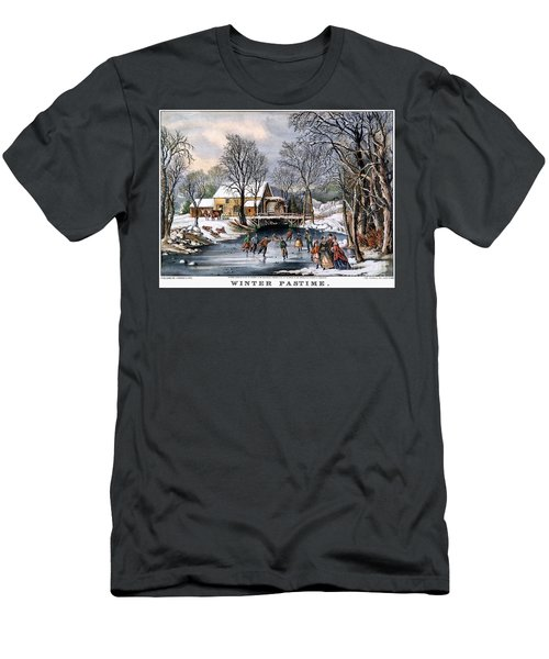 Winter Pastime, 1870 Men's T-Shirt (Athletic Fit)