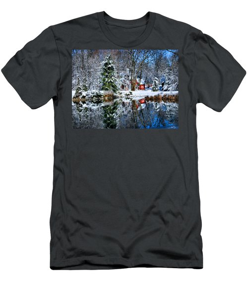 Winter Reflection Men's T-Shirt (Athletic Fit)