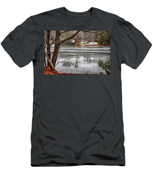 Men's T-Shirt (Athletic Fit) featuring the photograph Winter Reflections by Tatiana Travelways