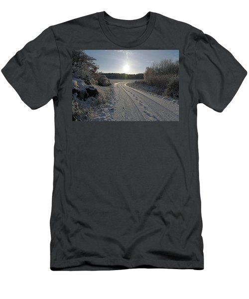 Winter Road Men's T-Shirt (Athletic Fit)
