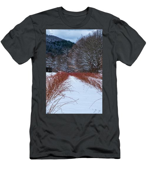 Men's T-Shirt (Athletic Fit) featuring the photograph Winter Scene by Tom Singleton