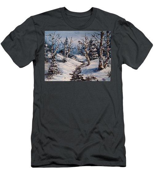 Winter Silence Men's T-Shirt (Slim Fit) by Megan Walsh