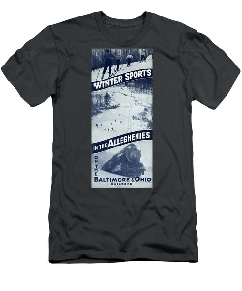 Winter Sports In The Alleghenies Men's T-Shirt (Athletic Fit)