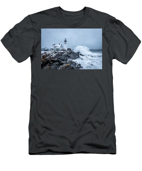 Winter Storm, Portland Headlight Men's T-Shirt (Athletic Fit)