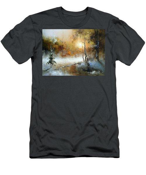 Winter Sunset Men's T-Shirt (Athletic Fit)