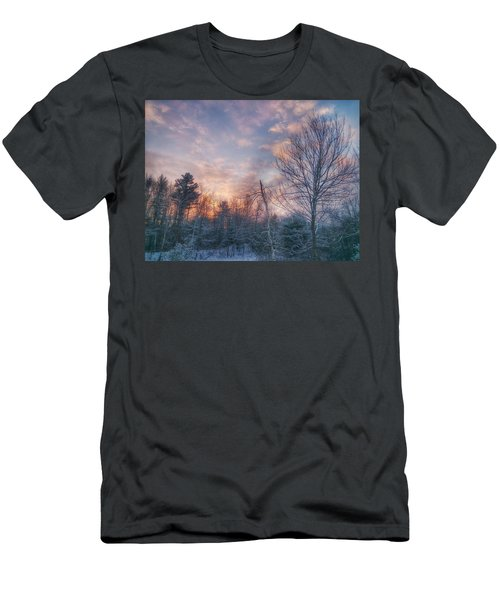 Winter Sunset In New England Men's T-Shirt (Athletic Fit)