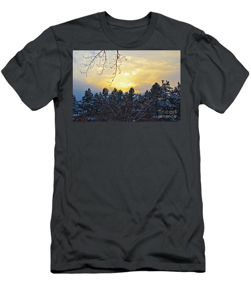 Winter Sunset On The Tree Farm #1 Men's T-Shirt (Athletic Fit)