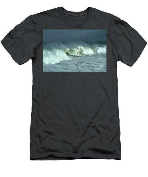Winter Surf On Monterey Bay Men's T-Shirt (Athletic Fit)