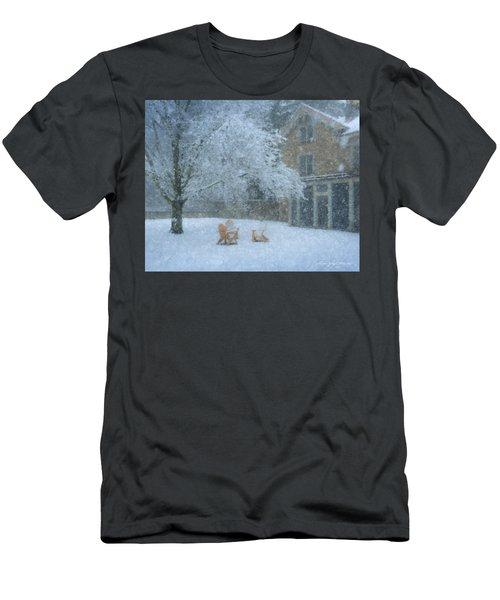 Winter Tea At Queset House Men's T-Shirt (Athletic Fit)