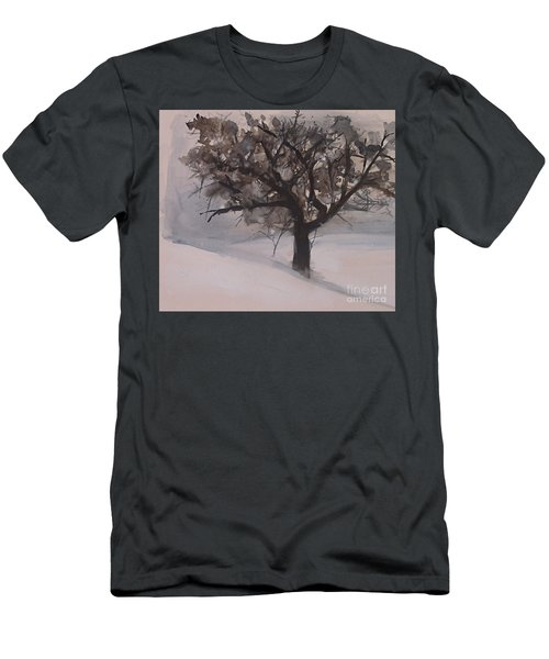 Winter Tree Men's T-Shirt (Slim Fit) by Laurie Rohner