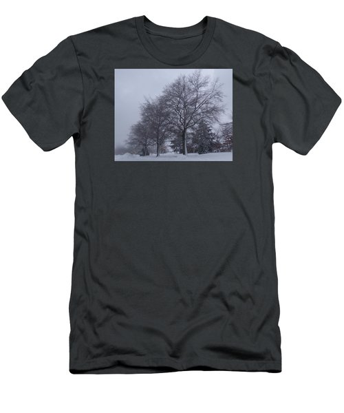 Winter Trees In Sea Girt Men's T-Shirt (Slim Fit) by Melinda Saminski