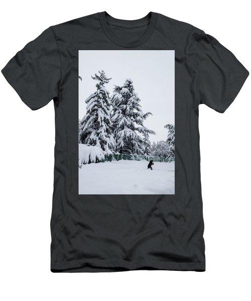 Winter Trekking-2 Men's T-Shirt (Athletic Fit)