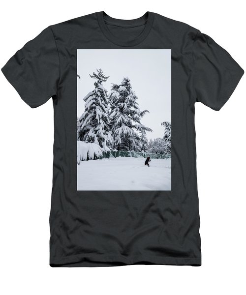 Winter Trekking-2 Men's T-Shirt (Athletic Fit)